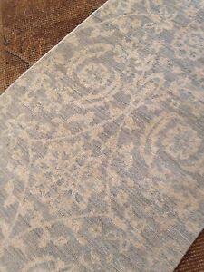 "Rare Peshawar L.blue Oushak  Oriental  Area Rug Runner 2'.2""x11.7"" Elegant A+"