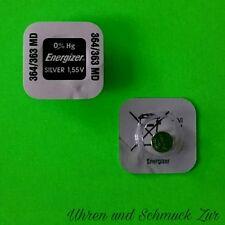 2x Energizer 364/363 Uhren-Batterie Knopfzelle SR621SW SR621W AG1  Silver 1,55V
