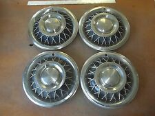 "1962 62 1963 63 1964 64 Ford Mercury Hubcap Rim Wheel Cover Hub Cap 15"" WIRE SET"