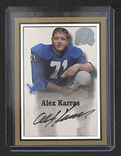 2000 Fleer Greats of the Game Football Autograph Alex Karras