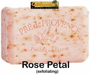 Pre de Provence ROSE PETAL 250 Gram French Soap Bath Shower Bar Shea Butter XL