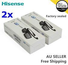 2X Brand New Hisense 3D Active Shutter Glasses FPS3D08 For 2014 TV K390PADItem D
