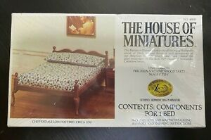 The House Of Miniatures Chippendale Low Post BED Dollhouse Kit 40033 NEW Sealed
