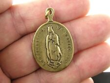 OUR LADY OF GUADALUPE Medal, bronze, cast from 1864 antique Mexican original