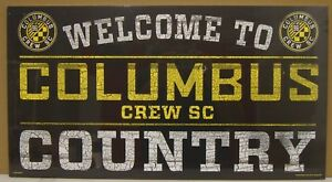 "COLUMBUS CREW SC WELCOME TO COUNTRY WOOD SIGN 13""X24'' NEW WINCRAFT ⚽"
