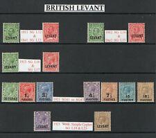 British Levant 1911 to 1921 in good M/M condition