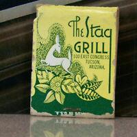 Vintage Matchbook K6 Tucson Arizona Stag Grill Beautiful Design Restaurant Leaf