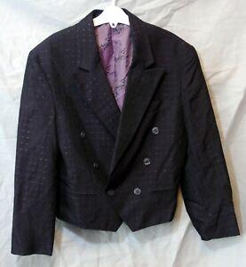 Boys Whoopi Dark Plum Smart Formal Tailored Blazer Suit Jacket Age 9-10 Years