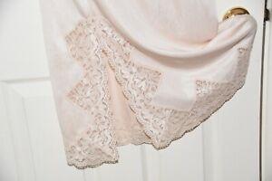 FS 2  - Vintage style Charnos heavier feel silky nylon waist slip, Large,  BN