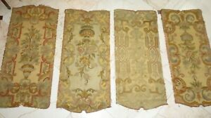 "FRENCH ANTIQUE NEEDLEPOINT PANELS 4 PCS. GORGEOUS, UPHOLSTERY,  WALLS, 42"" Tall"