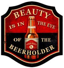 Beauty-Beer Holder Plasma Cut Metal Sign