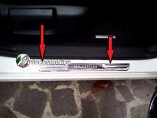 2 battitacchi LED Nissan Qashqai 07-2018 protezione soglia entrata acciaio cromo
