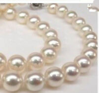 """Genuine 8mm White South Sea SHELL PEARL NECKLACE 18"""" AAA"""