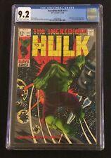 INCREDIBLE HULK #111 Comic Book CGC 9.2 Marvel 1969 Stan Lee 1ST GALAXY MASTER