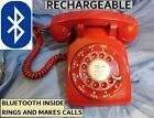 NOW ! Pair this RED WESTERN ELECTRIC BLUETOOTH TELEPHONE to any iPhone/Android