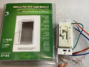 Hunter Ceiling Fan & Light Control 27182 3 Fan Speeds Full-Range Light Dimming