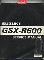 Suzuki GSXR600 SRAD (1997 >>) Factory Shop Manual GSXR 600 GSX-R (CARB) DF21