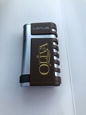 Lotus Mercury Double Torch Cigar Lighter - Oliva Logo - New