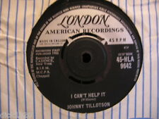 JOHNNY TILLOTSON I CAN'T HELP IT/I'M SO LONESOME I COULD CRY 1962 EX+ COPY