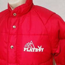 VTG Playboy Magazine Winter Ski Coat 70s Jacket Puffer Club Bar Girl Snow Medium