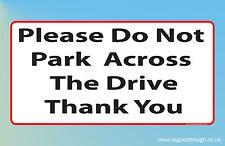 No hay aparcamiento en frente de la unidad gracias Vinilo Sticker Signo Rojo y Negro R008