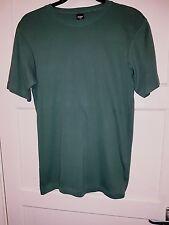 Cotton Traders M Mens/womens/unisex Green cotton crew neck short sleeveTee shirt
