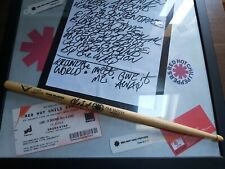Rare Authentic Red hot Chili Peppers Drumstick Play By Chad Smith At LA CIGALE