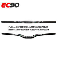 EC90 Riser Bar / Flat Bar Handlebar MTB Bike 3K Carbon Lengthen 31.8*600-720mm