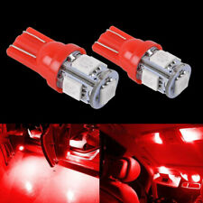 10X T10 Red 194 LED Bulb Instrument Gauge Cluster Dash Light Twist Lock Socket
