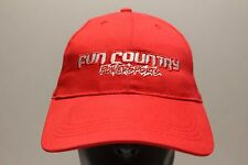 FUN COUNTRY POWERSPORTS - RED - LIGHTWEIGHT ADJUSTABLE BALL CAP HAT!
