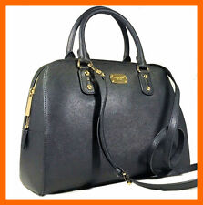 MICHAEL KORS SAFFIANO LEATHER SHOULDER LARGE SATCHEL TOTE BAG BLACK $398