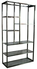 Mid Century Modern LaBarge Chrome & Glass Etagere Bookcase Curio Display Shelf