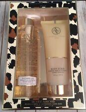 NIB * Adrienne Vittadini Studio Shower Gel & Body Scrub Bath Duo Honey Almond *