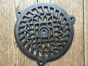 Fantastic round cast iron Victorian grill air vent extraction cover 6 inch CB9