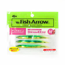 Fish Arrow Soft Lure Flash J Shirasu SW 3 Inch 5 Piece per pack #149 (3654)