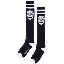 Women's Sourpuss Skull Sport Socks Black Punk Goth