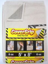 CoverGrip 005808 8 oz Canvas Safety Drop Cloth, 5' x 8'