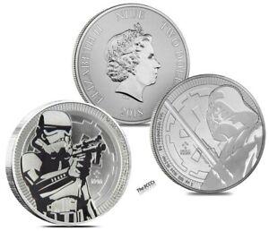 2018 Silver Star Wars Darth Vader & Storm Trooper Coin Set