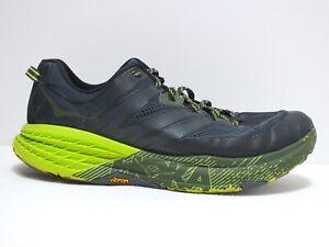 Hoka One One Speedgoat 3 Men's Running Shoes Ebony/Black Sz 11.5 US (NO INSOLES)