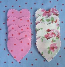 Cath Kidston White Rose & Pink Spot Fabric Material 50 Hearts Quilt Patchwork
