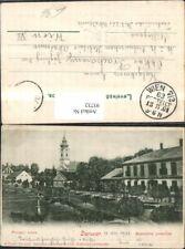 93732,Daruvar Strassenansicht Kirche 1901