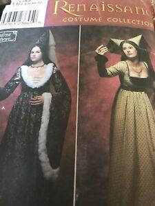 Simplicity Renaissance costume 9058 HH 6 8 10 12 Women Andrea Schewe UNCUT