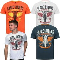 Mens T-Shirt South Shore Short Sleeved Print T-shirt Cotton Tee Top EAGLE RIDERS
