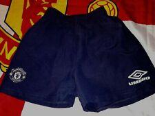 Vintage Kids Umbro Manchester United Navy Blue Shorts. Size Age 6-7 Years.