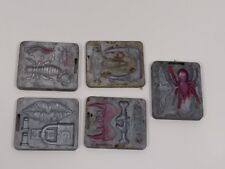 lot 5 1966 Mattel Thingmaker Creepy Crawler aluminum molds bug lips vampire