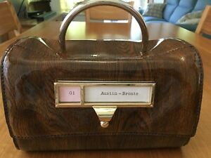 Kate Spade Required Reading Austin Bronte Index Organizer Card Catalogue Bag