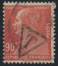 1927.TIMBRE  T  DANS 1 TRIANGLE SUR MARCELIN BERTHELOT N° 243