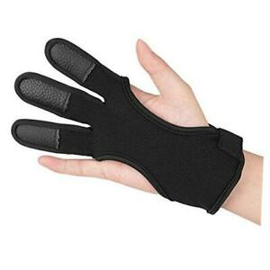 Archery Gloves Finger Protector Youth Kids Shooting Hunting Black (11~13Y/O)