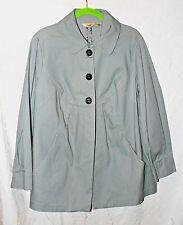 MOTTO QVC Gray Stretch Denim Jacket sz 18W, XL NEW Lightwght, 5 Buttons-2 Hidden