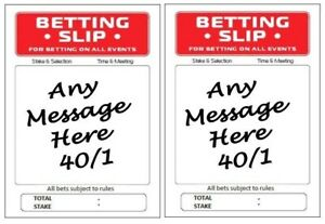Personalised Edible Betting Slips x 2 Icing Decor Plus